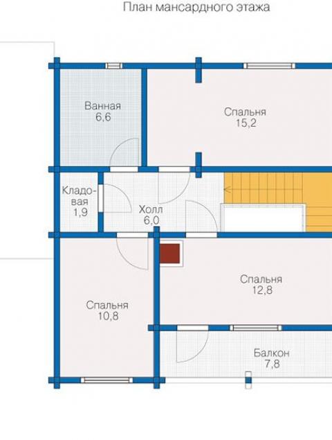 Дома из бруса серии БС 1-125