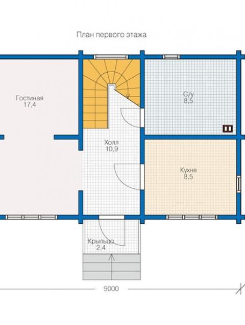 Дома из бруса серии БС 1-93
