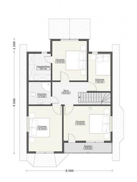 Дома из бруса серии ПДС 10-52