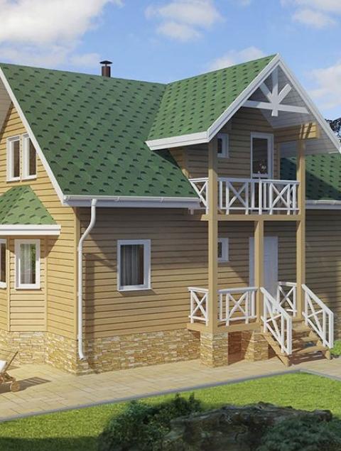 Дома из бруса серии ПДС 2-96