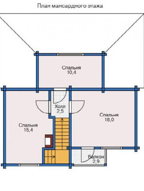 Дома из бруса серии БС 1-121