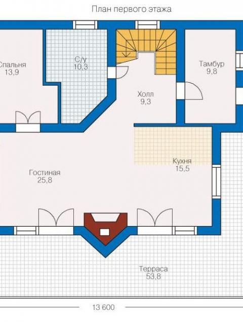 Дома из бруса серии БС 1-197