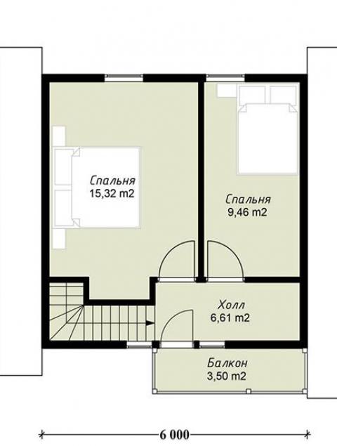 Дома из бруса серии ПДС 1-27