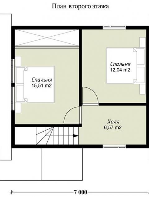 Дома из бруса серии ПДС 1-28