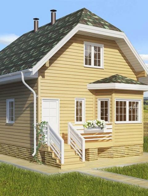 Дома из бруса серии ПДС 1-32