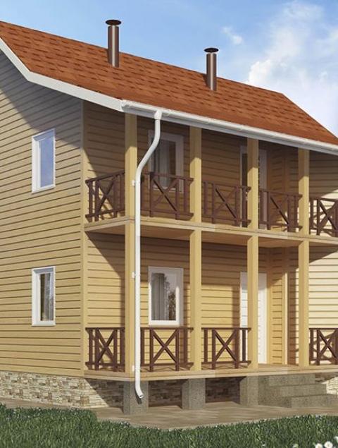 Дома из бруса серии ПДС 1-39