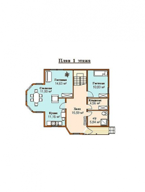 Дома из бруса серии ПДС 1-54