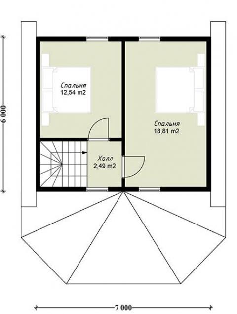 Дома из бруса серии ПДС 1-56