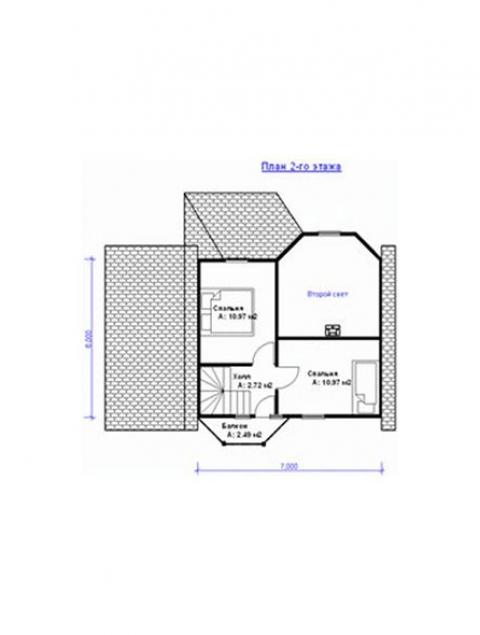 Дома из бруса серии ПДС-1-57