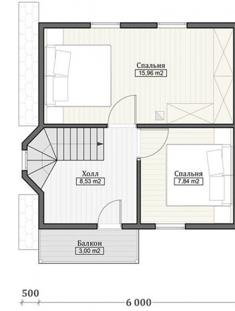 Дома из бруса серии ПДС 1-65