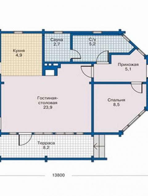Дома из бруса серии ПДС 10-16