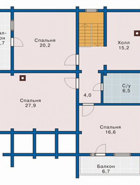 Дома из бруса серии ПДС 10-55