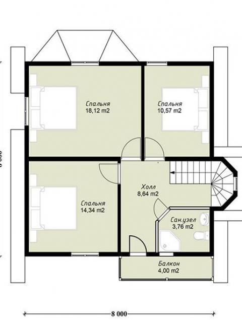 Дома из бруса серии ПДС 11-124