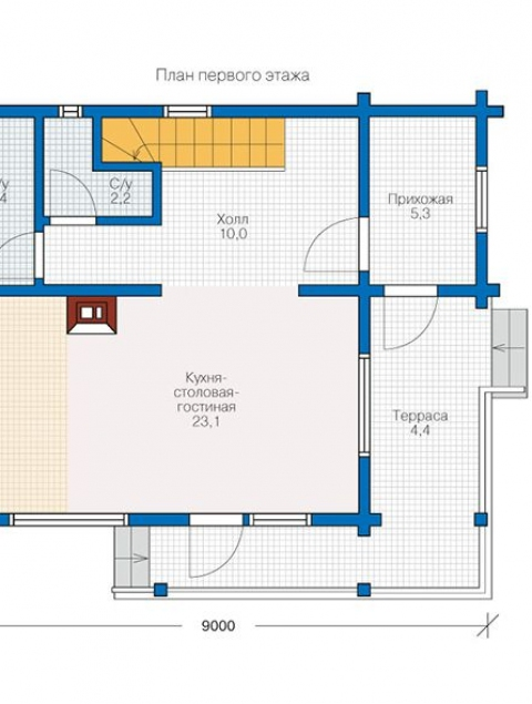 Дома из бруса серии БС 2-100