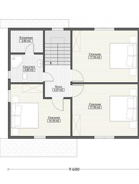 Дома из бруса серии ПДС 2-135