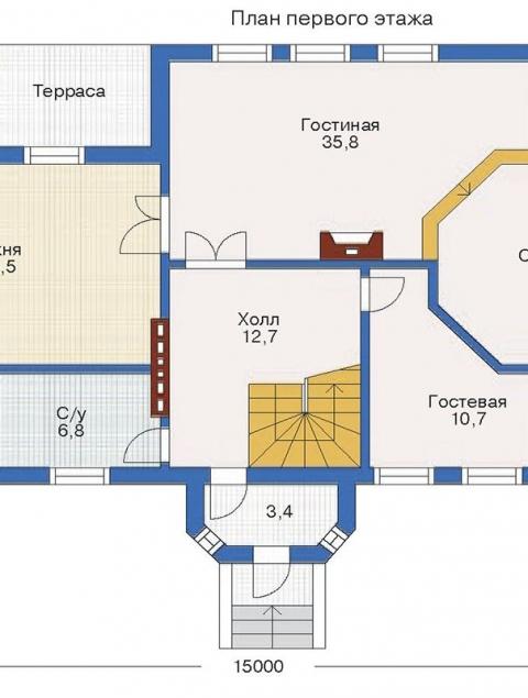 Дома из бруса серии БС 2-208