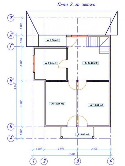 Дома из бруса серии ПДС 2-89