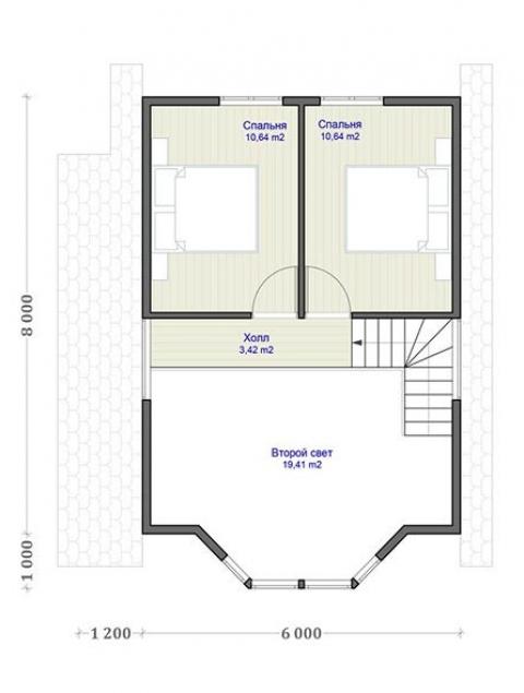 Дома из бруса серии ПДС 2-90