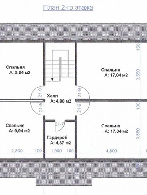 Дома из бруса серии ПДС 2-99