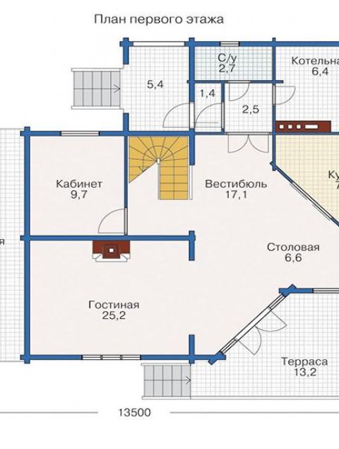 Дома из бруса серии БС 3-195