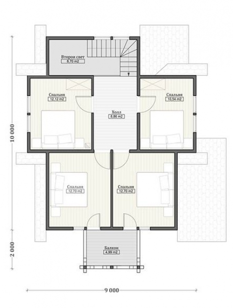 Дома из бруса серии ПДС 3-70